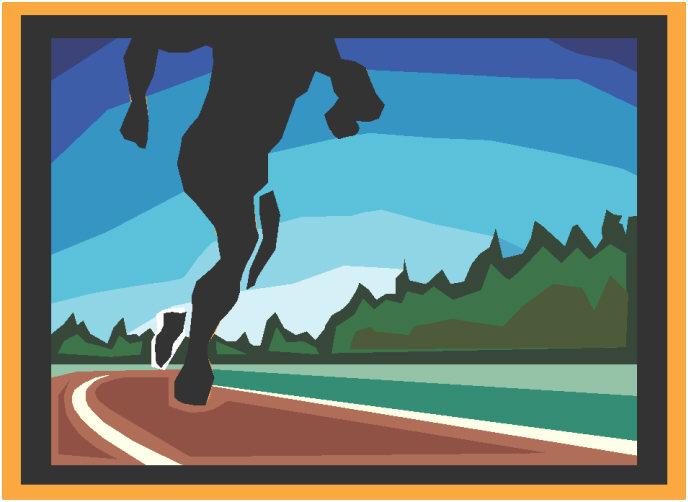 Runner on the track
